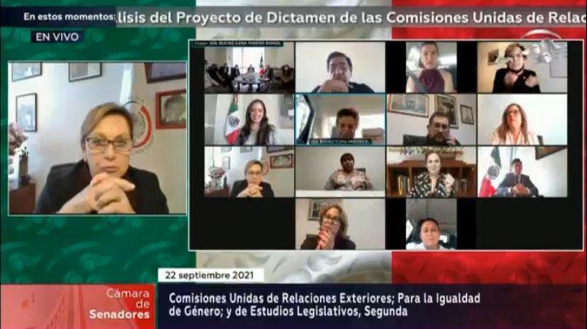 Aprueban y celebran comisiones del Senado cambios a la Ley del Servicio Exterior Mexicano Foto: @monicaferbal