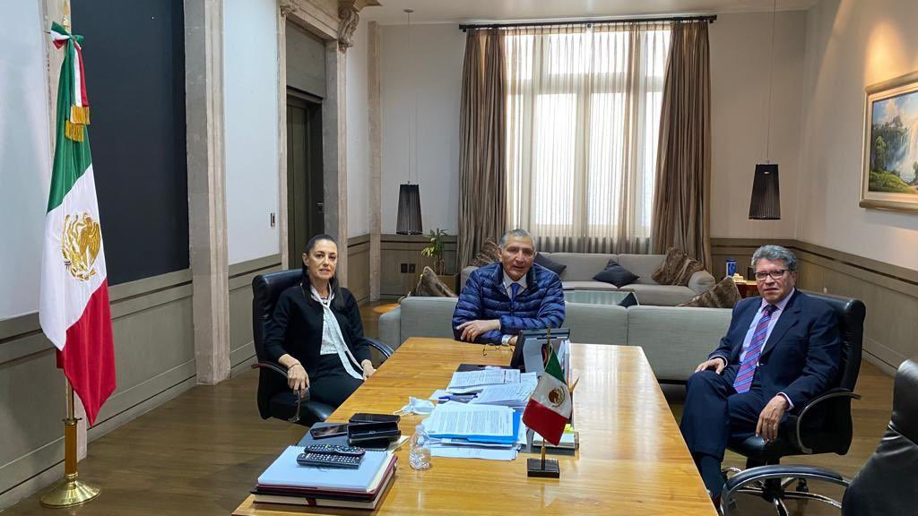 Analizan Ricardo Monreal, Jefa de Gobierno y titular de SEGOB, agenda legislativa de la CDMX Foto: @RicardoMonrealA