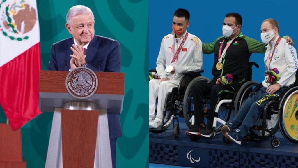 AMLO destaca a medallistas paralímpicos