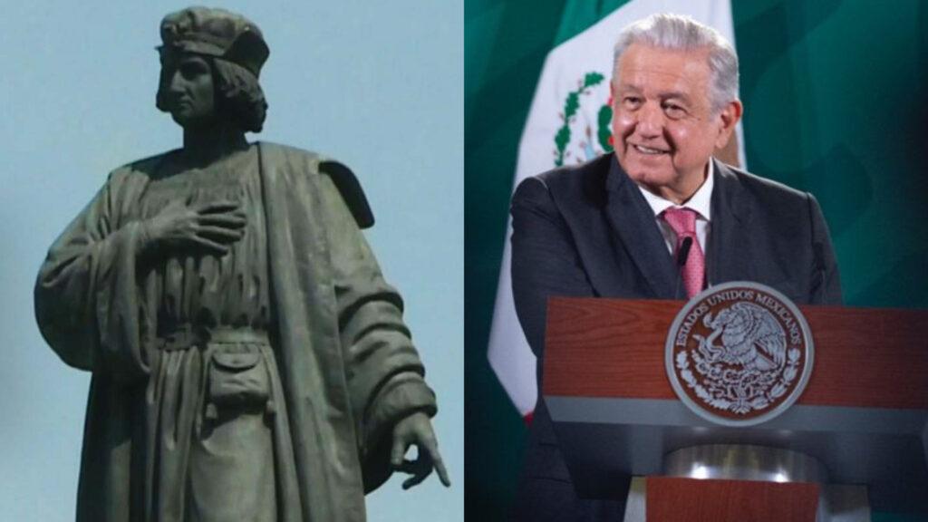 AMLO celebra cambio de estatua de Colón