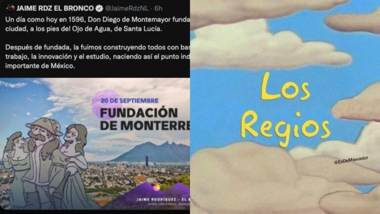 El Bronco felicita a Monterrey con personaje de Los Simpson que se casa entre primas