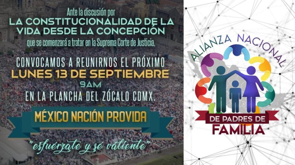 Grupos ProVida convocan a marcha a causa del aborto legal en México