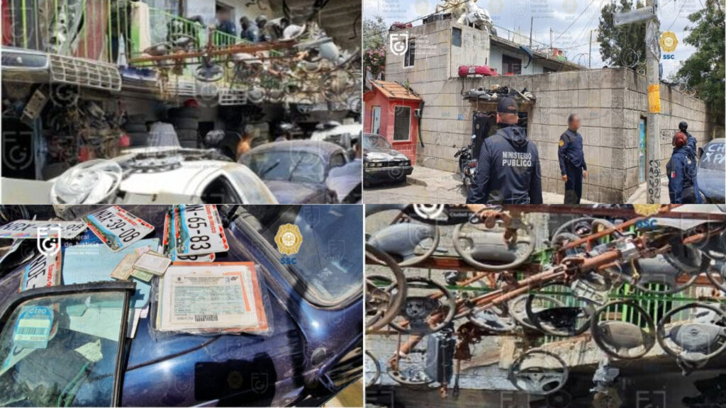 Fiscalía y Policía CDMX aseguran 15 toneladas de autopartes y detienen a 4 en Iztapalapa