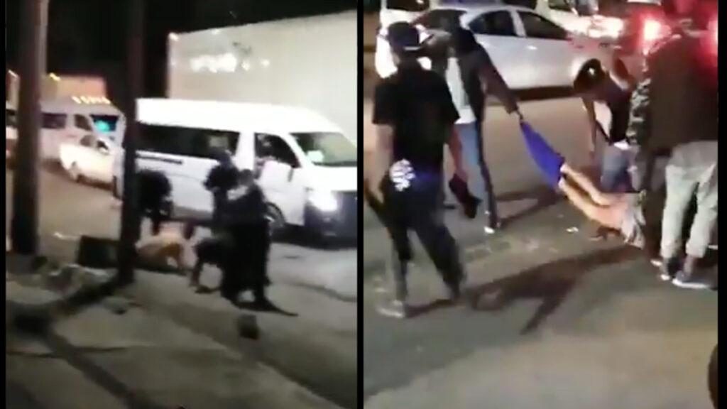 Golpean, nalguean y desnudan a ladrones de transporte en EdoMex (Video)