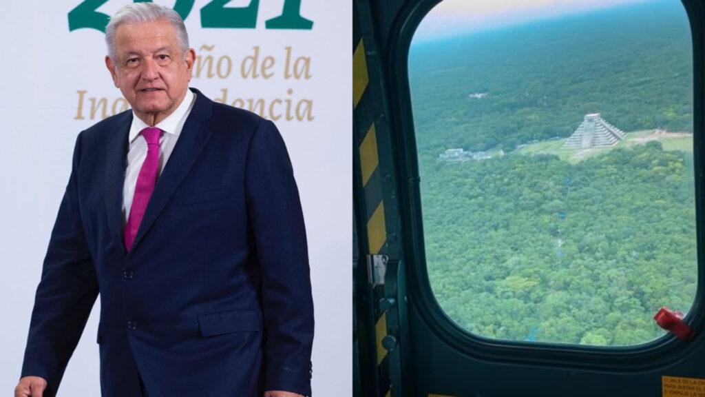 AMLO recorre Tren Maya con Carlos Slim