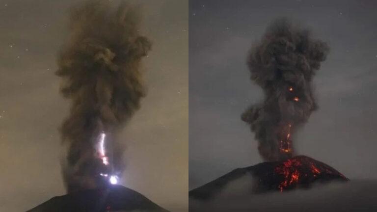 Popocatépetl registró explosión y lanza fumarola de 3 mil metros (Video)
