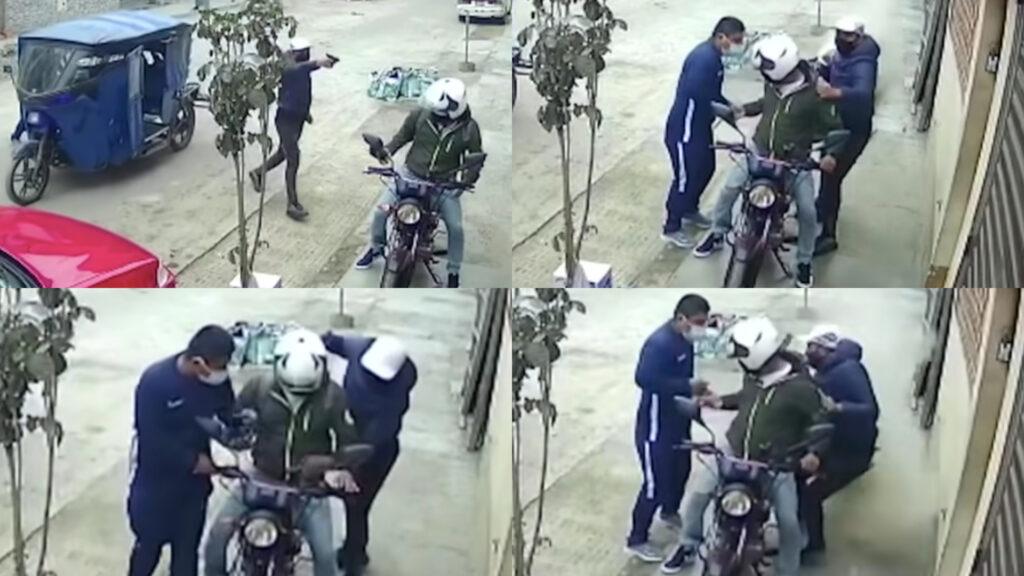 Costal de cemento le aventaron a ladrones, albañiles evitan asalto (Video)