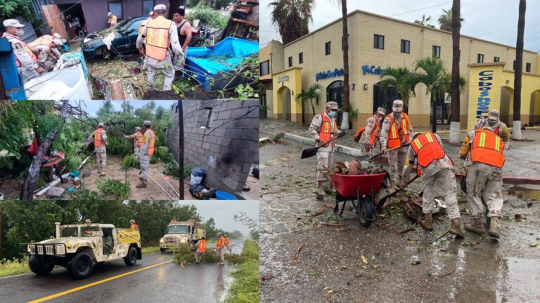Olaf se degradó a tormenta tropical en Baja California Sur, con saldo blanco **FOTOS & VIDEO SEDENA***