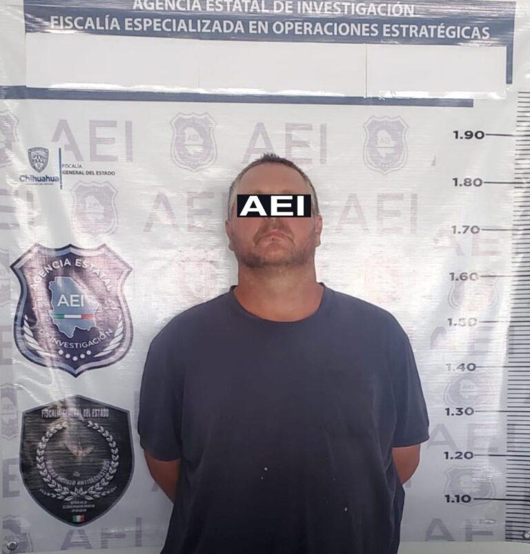 FGJ-Chihuahua detuvo a Pedro W. N, buscado por la DEA **FOTO FGJE-Chihuahua**