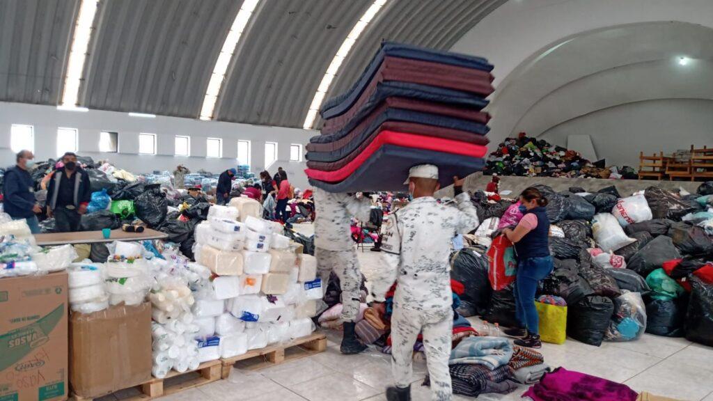 Guardia Nacional apoya en albergues a la población afectada por el desbordamiento del río Tula **FOTOS GN***