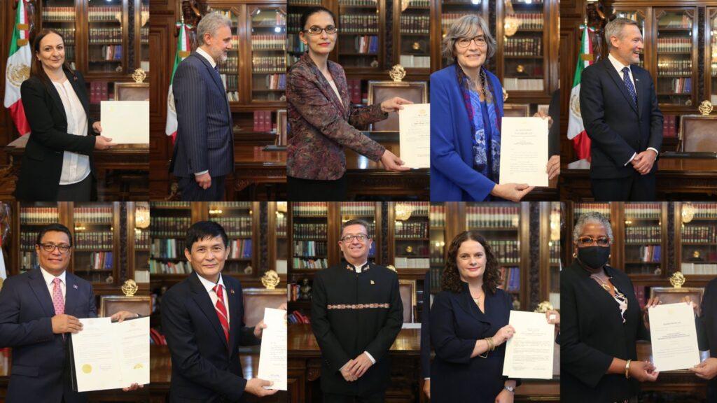 AMLO recibirá cartas credenciales de 20 nuevos embajadores Foto: @lopezobrador_