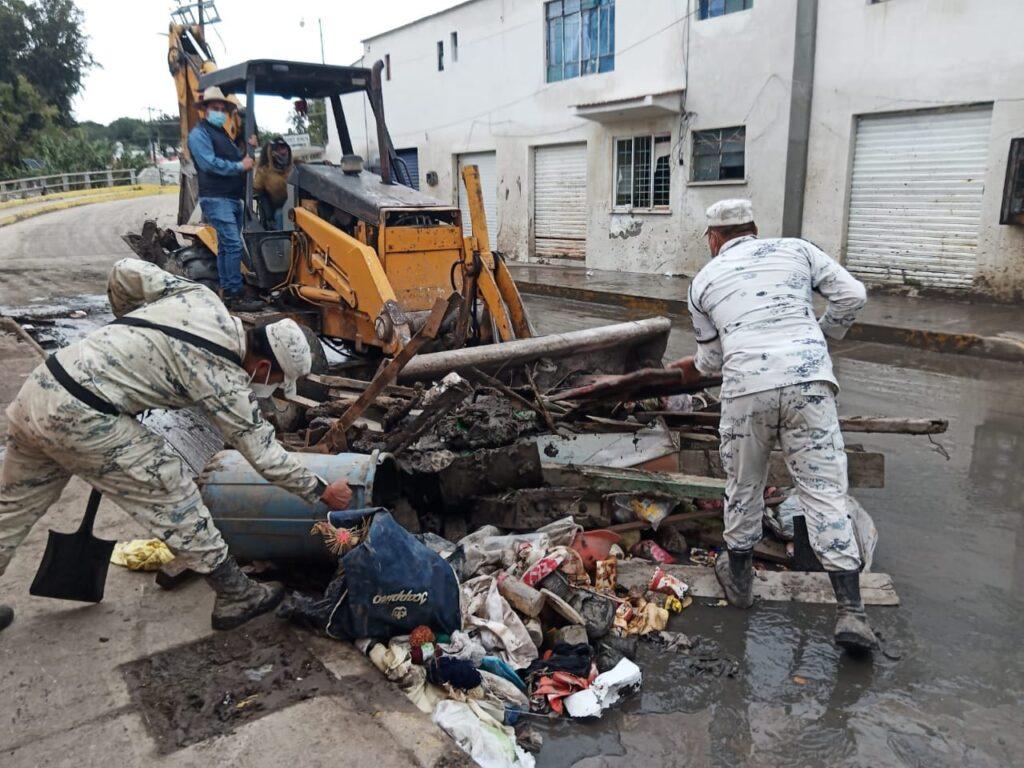 "Guardia Nacional mantiene ""Plan GN-A"" en zonas afectadas por lluvias en Hidalgo"