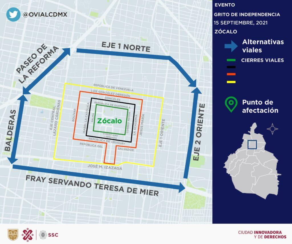 SSC-CDMX desplegará 500 policías en el primer cuadro de la Ciudad por fiestas patrias Foto: SSC