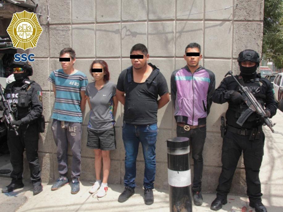 """SSC-CDMX detuvo a """"El Japo"""" y a tres más, dedicados al robo y desmantelamiento de vehículos ***FOTOS & VIDEO SSC-CDMX**"""