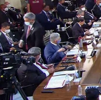 Mario Abdo Benítez, presidente de la República de Paraguay, dejó Cumbre de la CELAC Foto: Internet