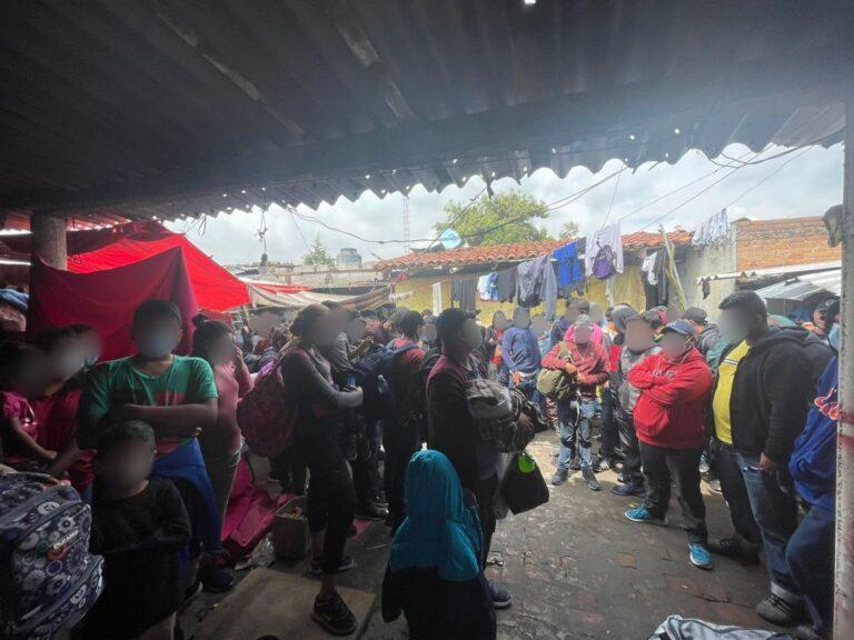 INM rescató a 133 migrantes en una casa de seguridad en Puebla ***FOTOS INM***