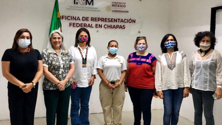 INM, INMUJERES y CONAVIM suman esfuerzos con perspectiva de género en mujeres migrantes **FOTOS SEGOB / INM***
