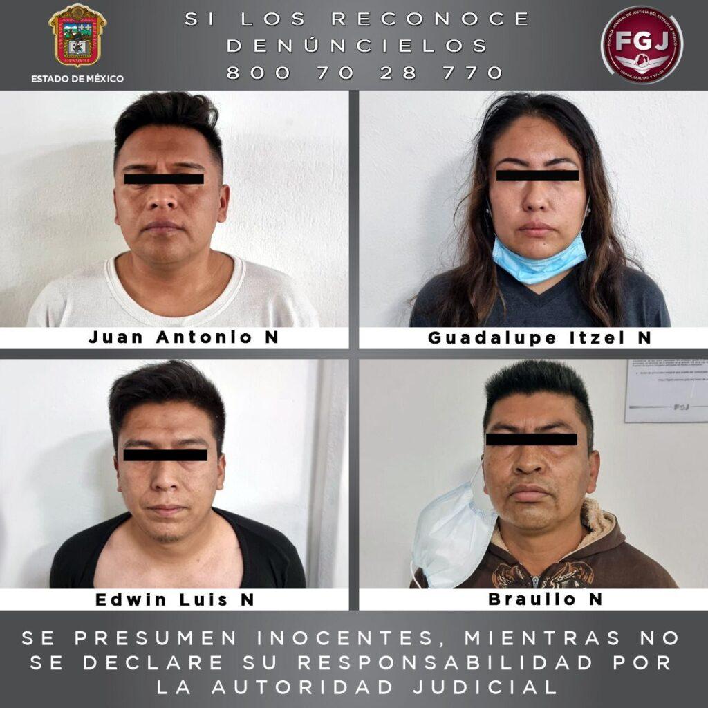 Cuatro elementos de la Policía municipal de Tecámac, fueron vinculados a proceso por secuestro exprés **FOTO & VIDEO FGJ-EM***