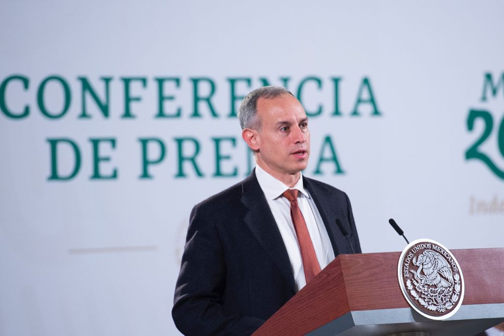 """Variante """"MU"""" del coronavirus no es de preocupación: López-Gatell Foto: Presidencia"""