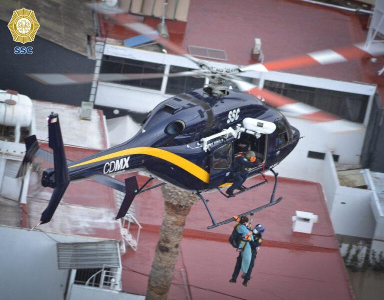 """""""Escuadrón Cóndores"""" ha realizado 675 operaciones aéreas en apoyo a la ciudadanía **FOTOS Y VIDEO SSC-CDMX**"""