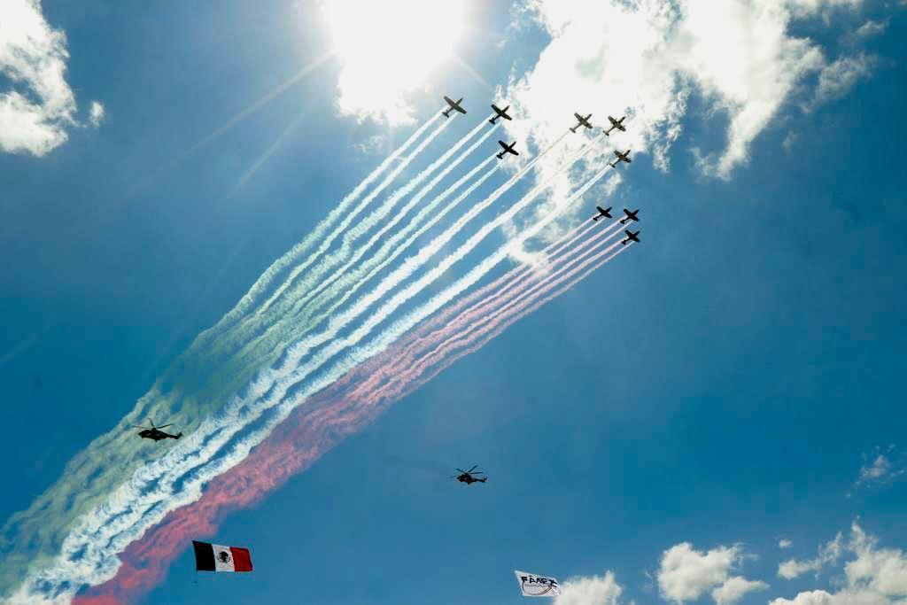 """Inicio la """"Feria Aeroespacial FAMEX-2021"""" **FOTOS Y VIDEO PRESIDENCIA****"""