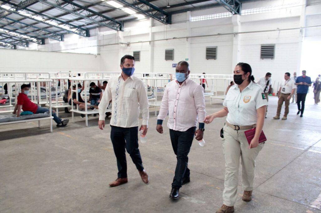 SRE, INM y Embajada de Haití recorren Chiapas y Tabasco