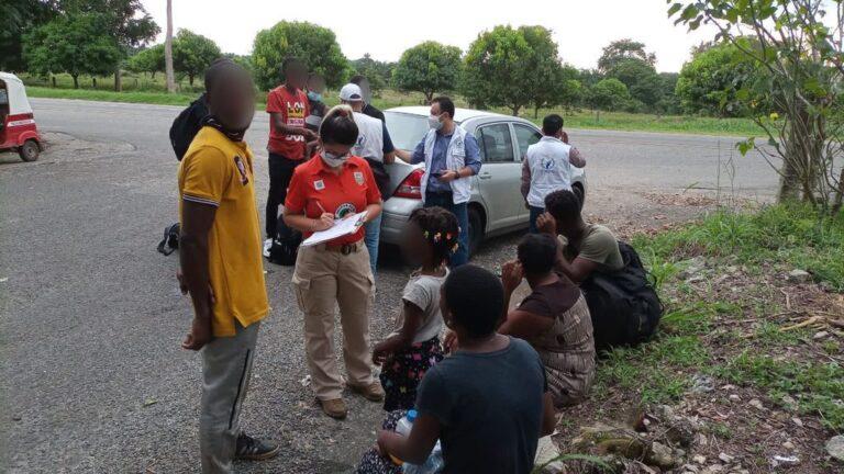 haitianos en Tapachula
