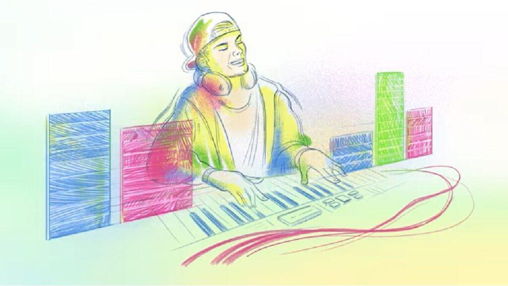 Google dedica el Doodle de hoy al DJ Avicii Foto: Google