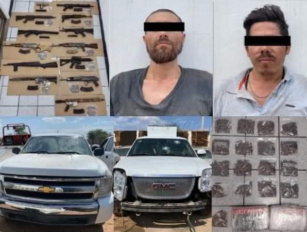"""Sedena y Policía Estatal detuvo a sicarios integrantes de """"La Chapiza"""" en Sonora"""