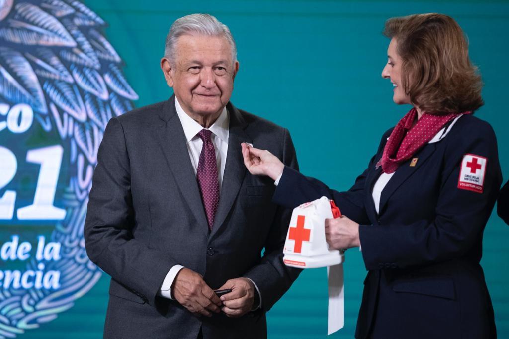 AMLO llama a participar en colecta de Cruz Roja Mexicana