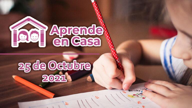 25 de octubre aprende en casa