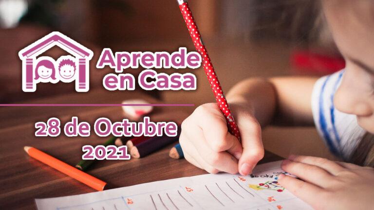 28 de octubre aprende en casa