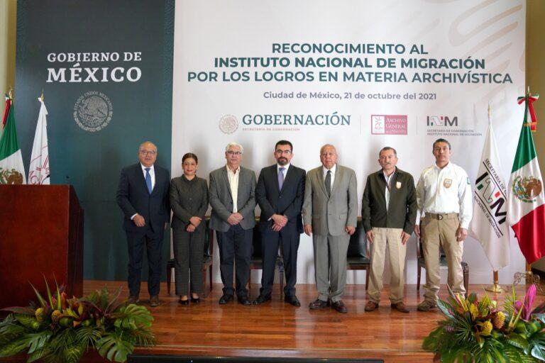 INM recibe reconocimiento del Archivo General de la Nación Foto: @INAMI_mx