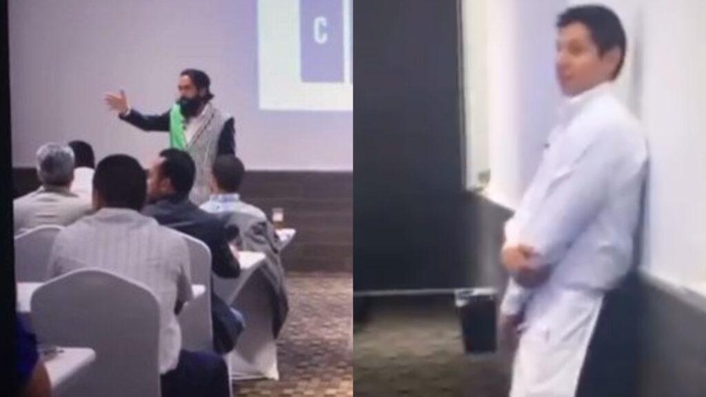 Influencer Carlos Muñoz lanza mensaje clasista a mesero en conferencia