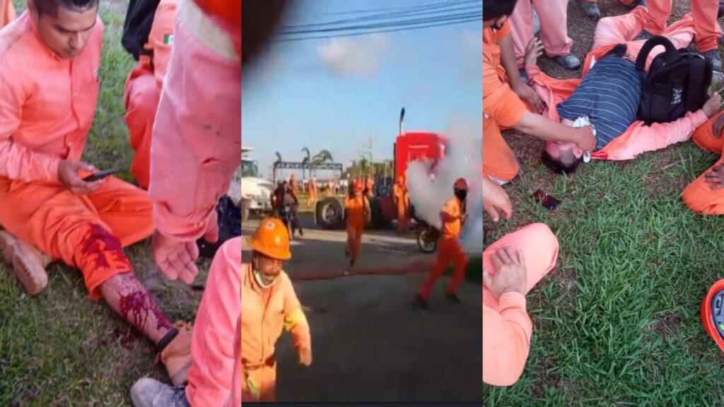 Enfrentamiento en Dos Bocas entre trabajadores y policías