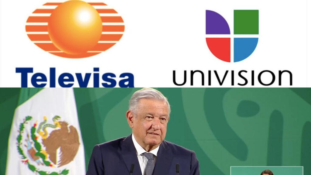 Cantidad millonaria deberán pagar Televisa y Univisión por fusión: AMLO