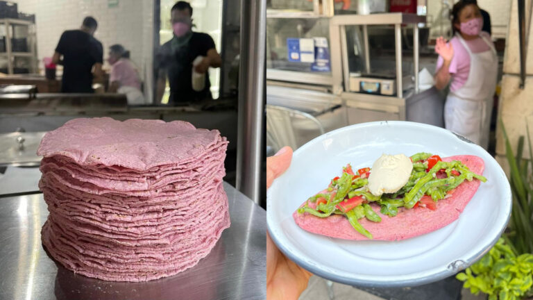 Tortillas y tlacoyos rosa con causa, lo recaudado para mastografías de guerreras