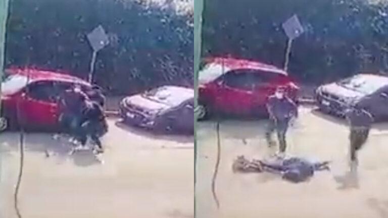 Balacean a joven durante asalto en Cuernavaca (Video)