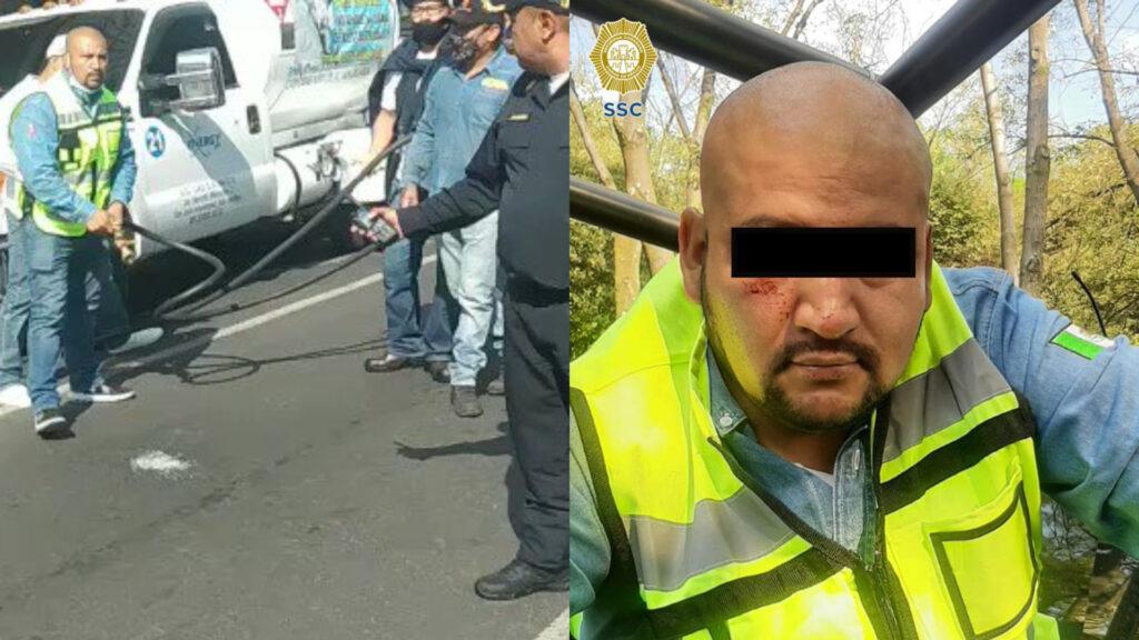 Fiscalía CDMX investiga a comisionista que roció y amenazo con Gas LP a policías en Colonia del Valle