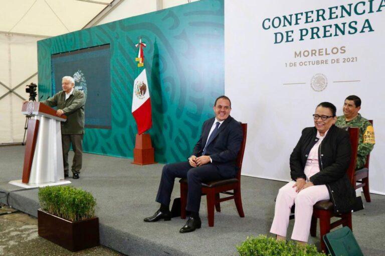 No estas solo Cuauhtémoc Blanco: AMLO Foto: Presidencia