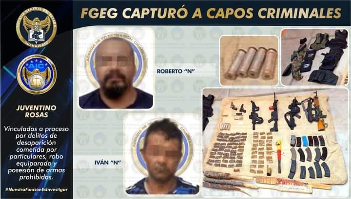 FGE-GTO y GN liberaron a masculino privado de la libertad y detuvieron a tres secuestradores en Guanajuato **FOTO FGJ-GTO**