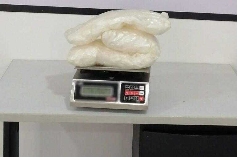 Binomios caninos de la Guardia Nacional localizaron más de 4 kilos de aparente crystal en Coahuila ***FOTOS GN**
