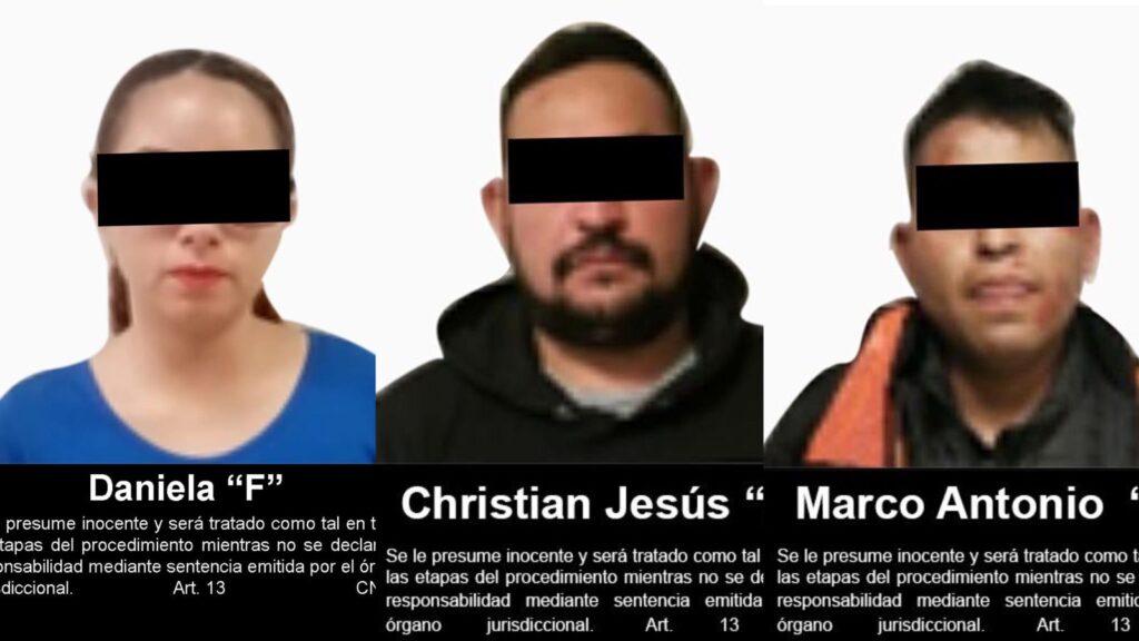 Juez federal vinculó a proceso a 3 personas por el delito de secuestro en el Estado de México ***FOTOS FGR***