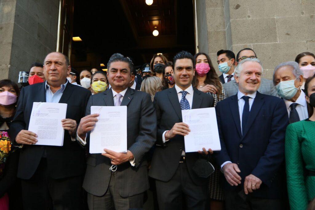 """""""Va por México"""" presenta ante la SCJN acción de inconstitucionalidad contra la """"Ley de Revocación de Mandato"""" Foto: Especial"""