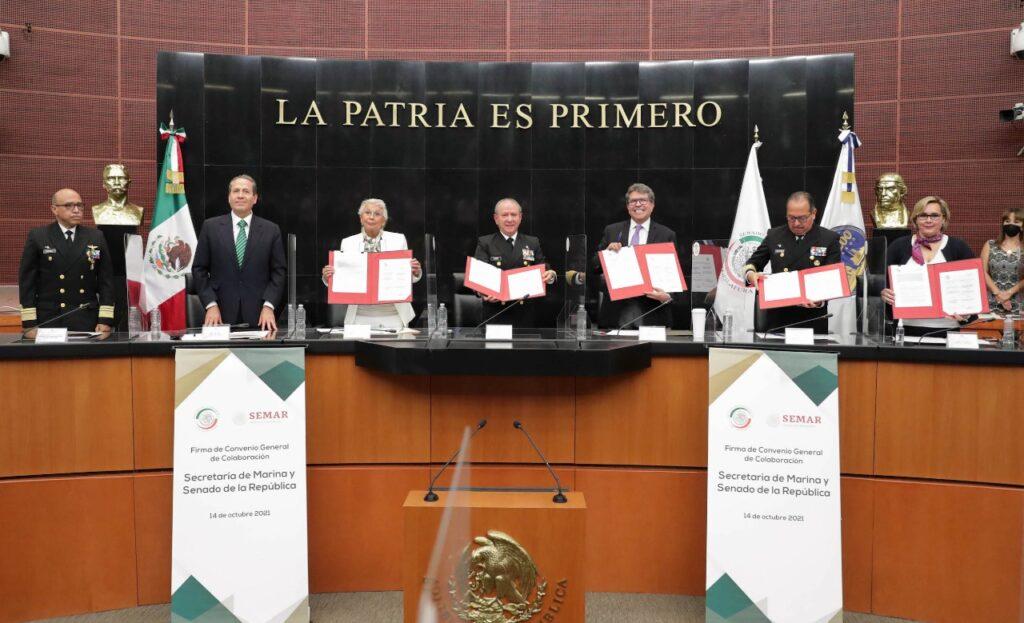 Firman Senado y Secretaría de Marina convenio para profesionalizar a su personal Foto: Internet