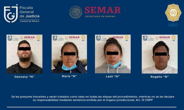 """Juez dictó prisión preventiva en contra de """"El Alemán"""" y vinculó a proceso a sus tres cómplices *FOTO FGJ-CDMX*"""