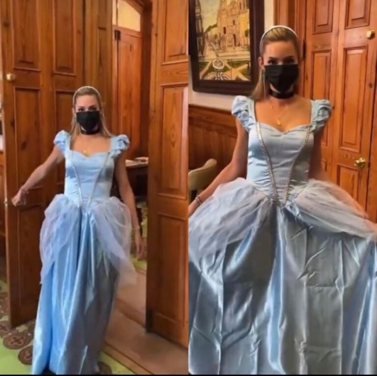 Mariana Rodríguez 'llega como princesa' al Palacio de Gobierno Foto: CM