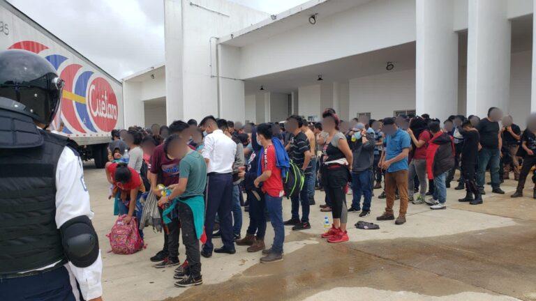 INM rescató a 334 personas migrantes en Veracruz **FOTOS SEGOB / INM***