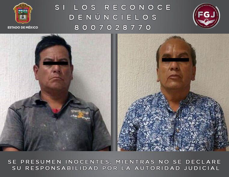 """Disparan a un can y detienen a dos en """"El Oro"""", Estado de México: FGJEM *FOTO FGJEM**"""