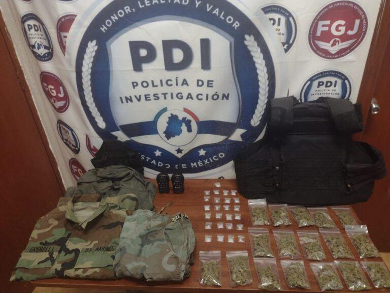 FGJEM desmantela punto de venta de narcóticos en Coatepec Harinas, Estado de México *FOTOS FGJEM*